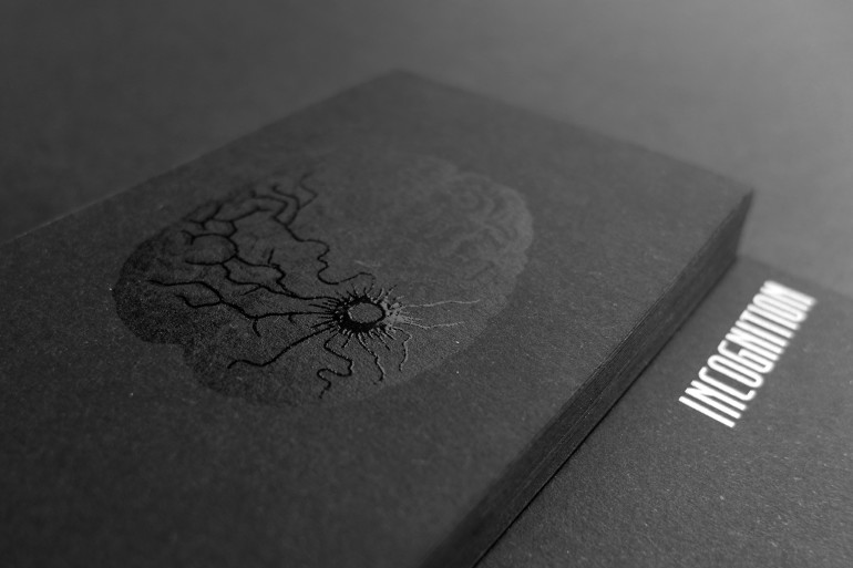 Cool Black Spot UV Business Card - Incognition