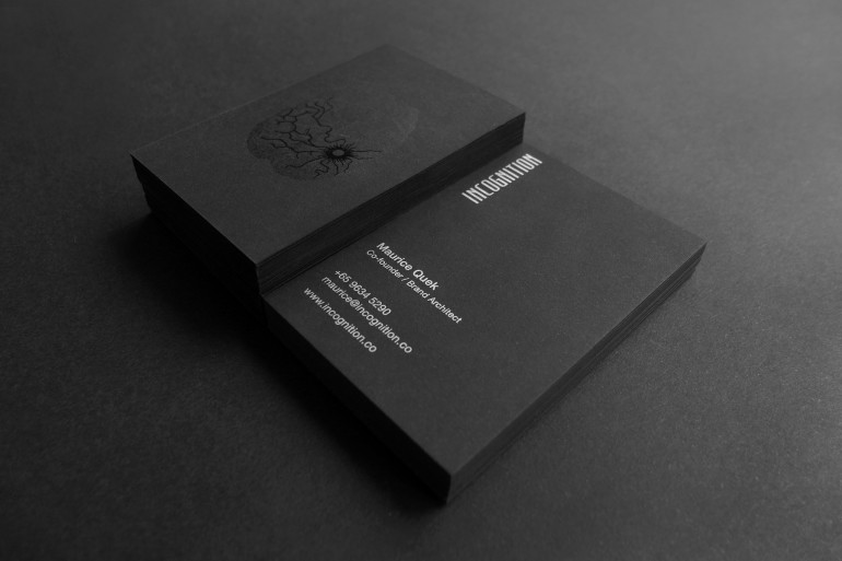 Cool black spot uv business card incognition cardrabbit cool black spot uv business card incognition close up reheart Image collections