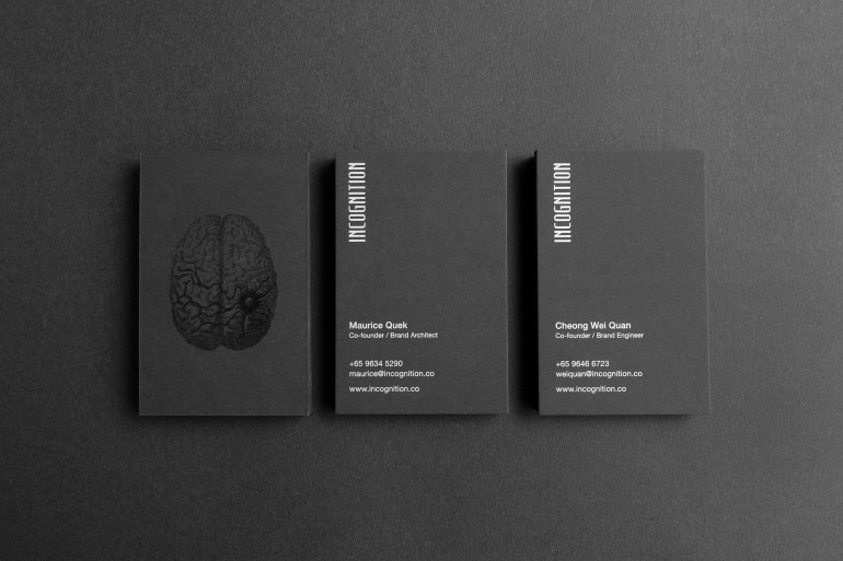 cool black spot uv business card incognition cardrabbit cool black spot uv business card incognition lined