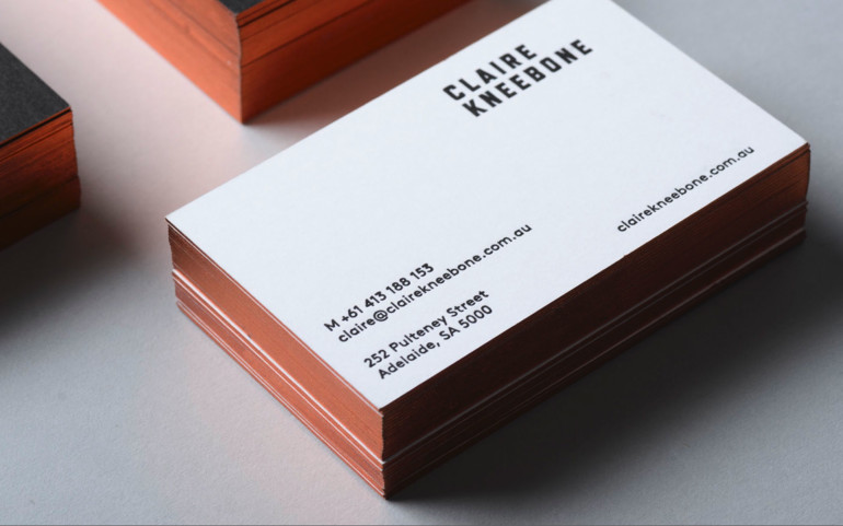 Cool Minimalistic Business Cards - Claire Kneebone Back