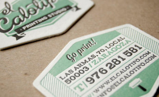Custom Shaped Letterpress Business Cards - El Calotipo
