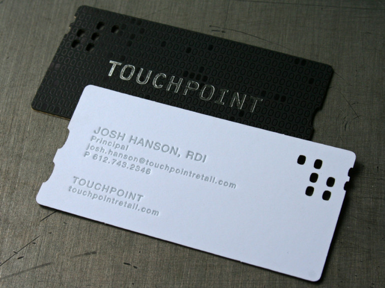 Laser cut letterpress business cards with foil touchpoint laser cut letterpress business cards with foil touchpoint colourmoves