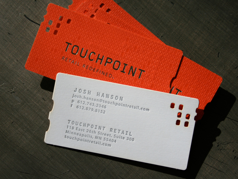 Laser Cut Letterpress Business Cards with Foil