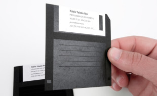 Unique Floppy Disk Business Card - Pablo Toledo Ros 2