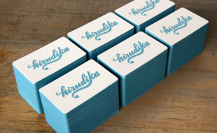 Creative Letterpress Business Cards - Hirudika 2