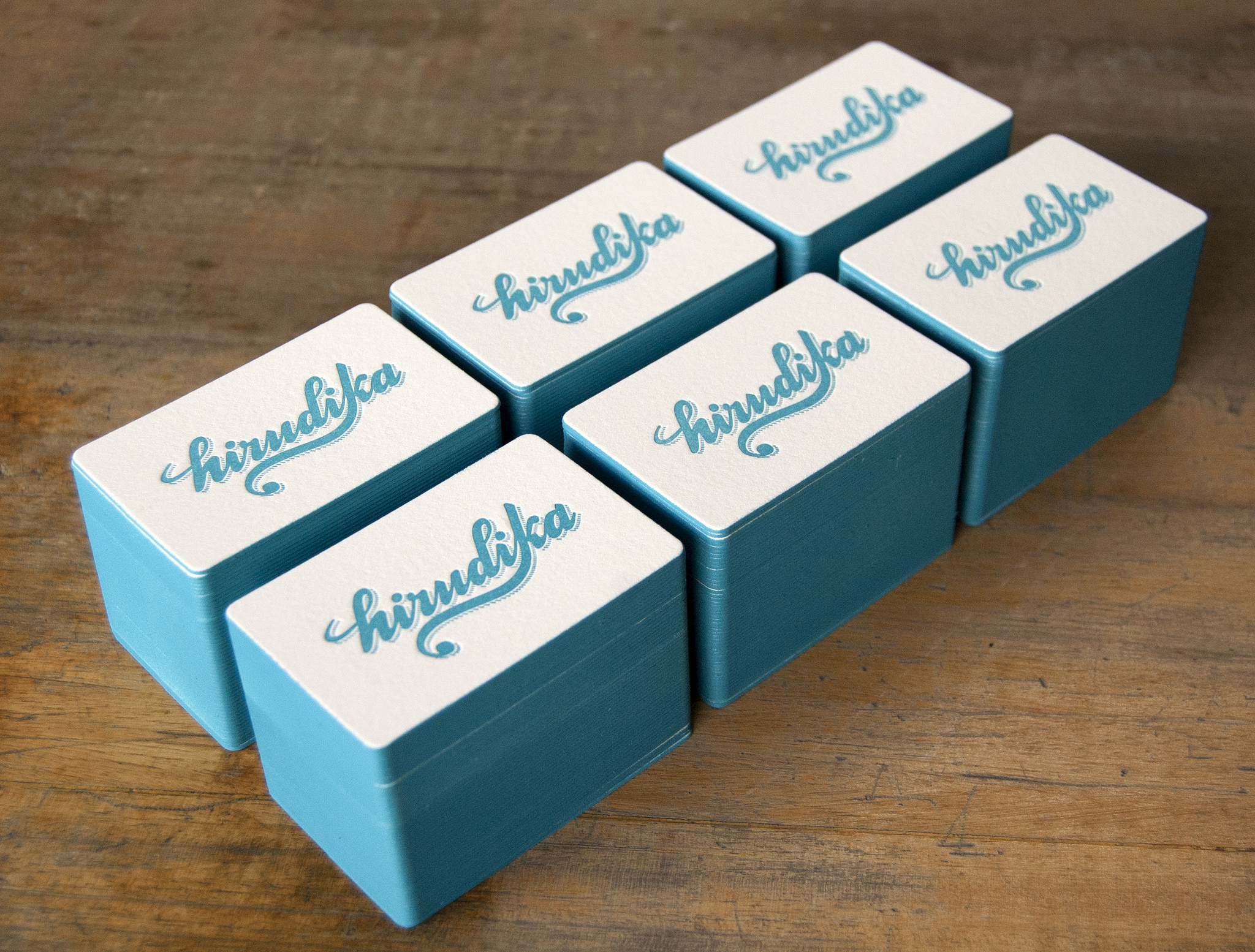 creative letterpress business cards – ananas