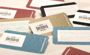 Custom Business Cards - New Sheridan Hotel