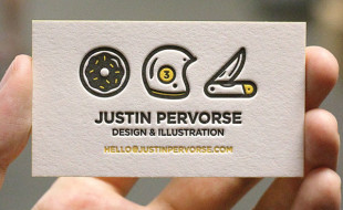 Letterpress Business Card - Justin Pervorse