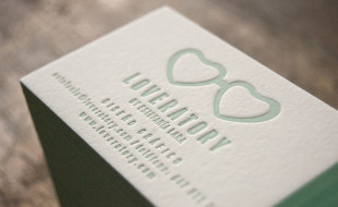 Letterpress Business Cards - Loveratory