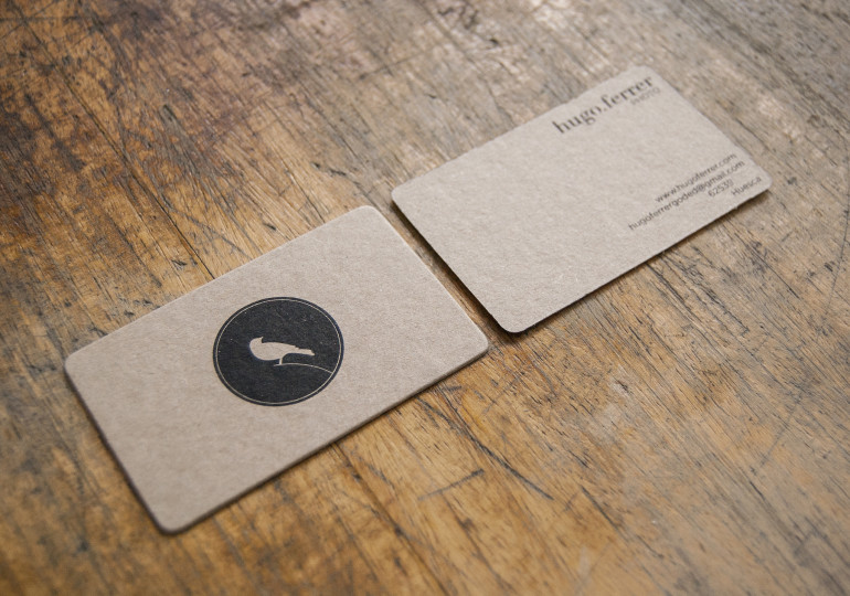 Unique Minimalistic Business Cards - Hugo Ferrer