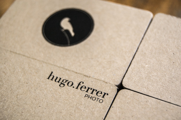 Unique Minimalistic Business Cards - Hugo Ferrer Photo