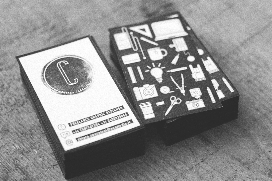 Cool Black&White Business Cards – Chiara Ceccaioni | CardRabbit.com
