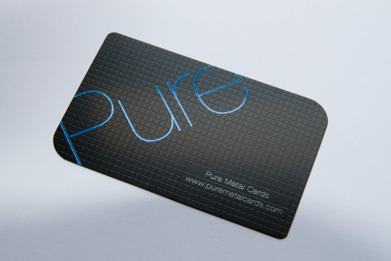 Custom matte black business card pure metal cards cardrabbit pure metal cards matte black business card colourmoves