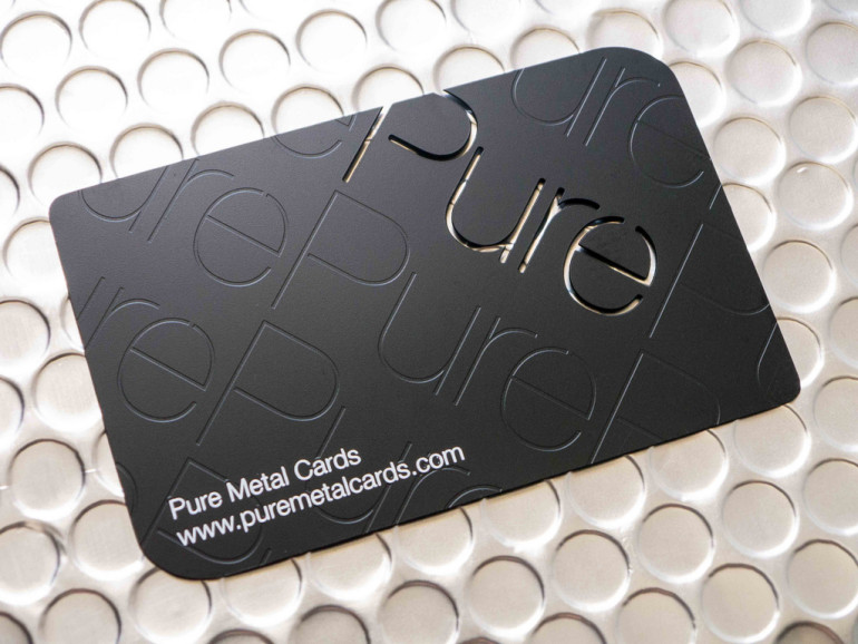 Matte Black Stainless Steel Business Cards 2
