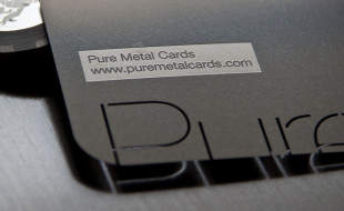 Metal Business Card with Embossed Lettering