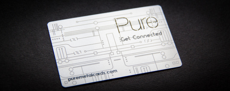Stainless Steel Business Card