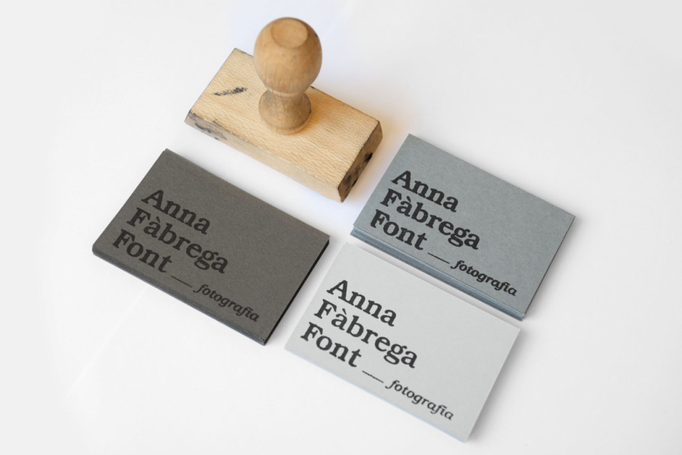 Stamped Business Cards - Anna Fabrega Font