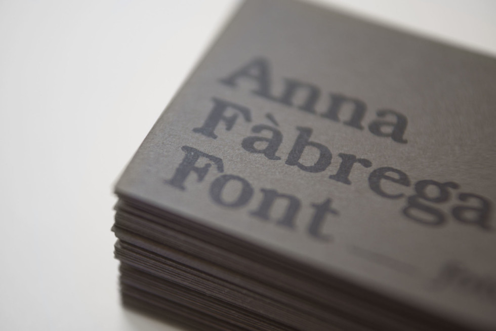 Stamped Business Cards - Anna Fabrega Font Photography