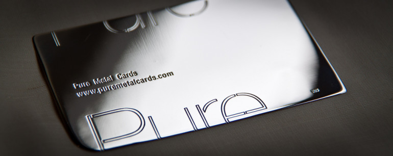 Sterling Silver Business Card