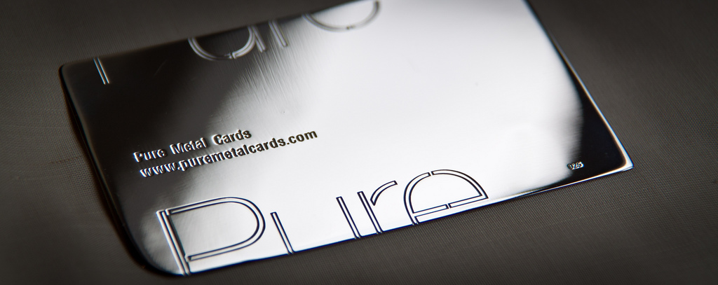 4 cool metal business cards