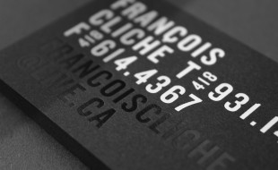 Cool Business Cards - Francois Cliche 2