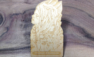 Custom Shape Wooden Business Card - Dreams of Grandeur