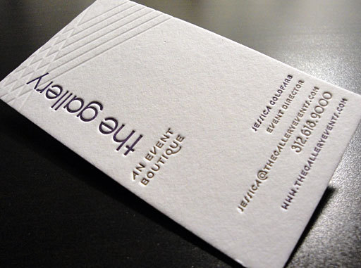 Letterpress business card the gallery cardrabbit letterpress business card the gallery colourmoves