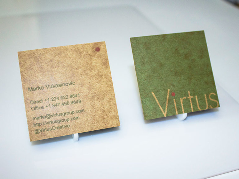 Poetically Square Business Cards - Virtus