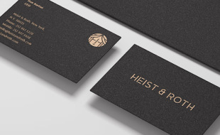Simple Custom Business Cards - Heist & Roth