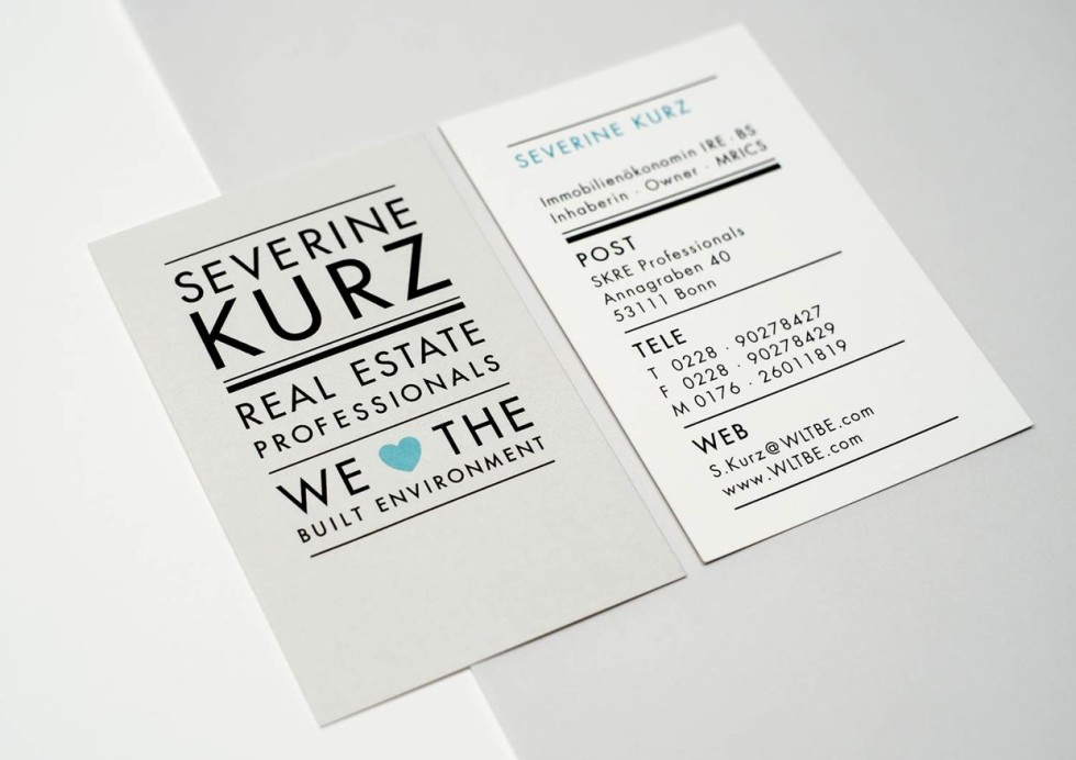 Unique Business Card Design - Severine Kurz 2