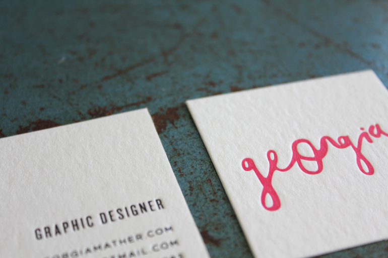 Unique Square Business Card - Georgia 2