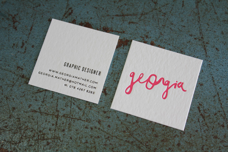 Unique Square Business Card - Georgia 3