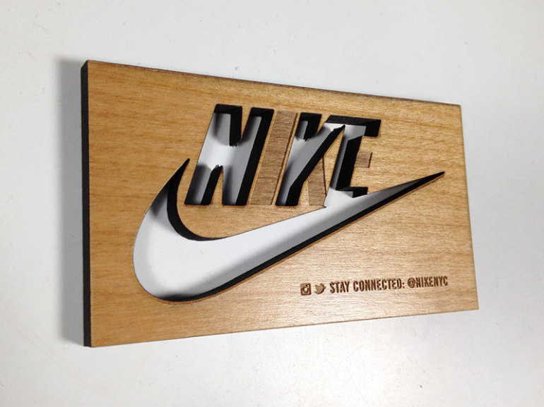 Unique wooden business cards nike cardrabbit unique wooden business cards nike colourmoves