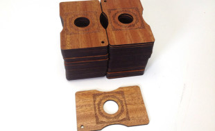 Unique Wooden Laser-Engraved Business Cards - Mahogany