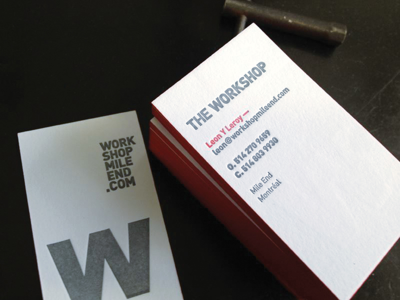 Awesome letterpress business cards the workshop cardrabbit colourmoves
