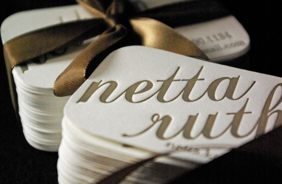 Creative Letterpress Business Cards - VermilionStarPress