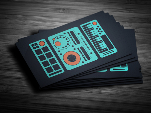 11 amazing business card templates for djs cardrabbit awesome producer dj business card template friedricerecipe Choice Image