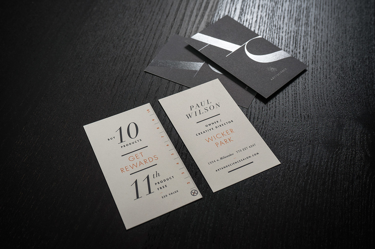 Cool Typography Business Card – Art Machine | CardRabbit.com