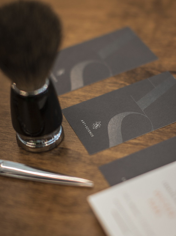 Cool Black Business Card - Art And Science Salon 3
