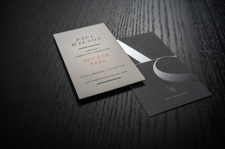 Cool Black Business Card - Art And Science Salon