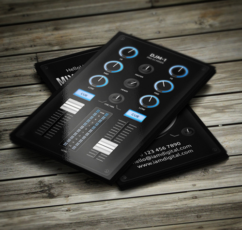 11 amazing business card templates for djs cardrabbit cool digital dj business card template 2 fbccfo Images