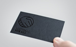 Cool Letterpress Business Card - Football For All