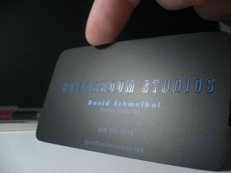 Cool Spot UV Business Card - Boilerroom Studios 3