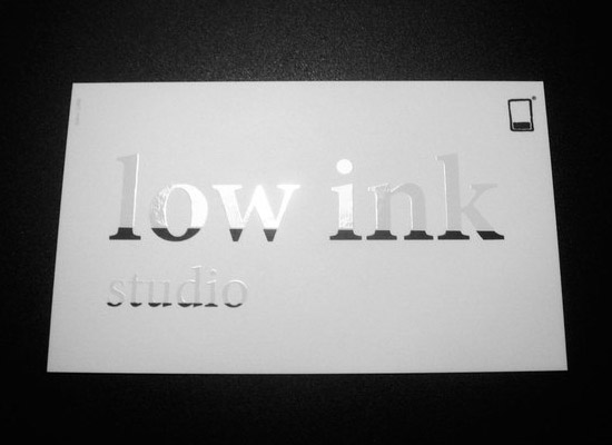 Cool Spot UV Business Card - Low Ink Studio