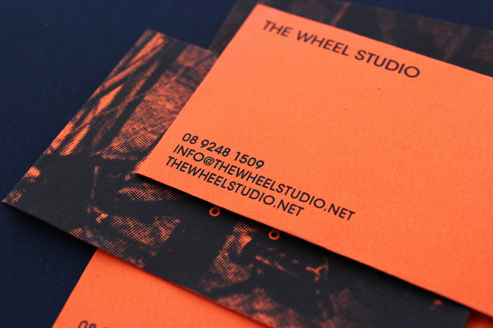 Creative Custom Business Card – The Wheel Studio | CardRabbit.com