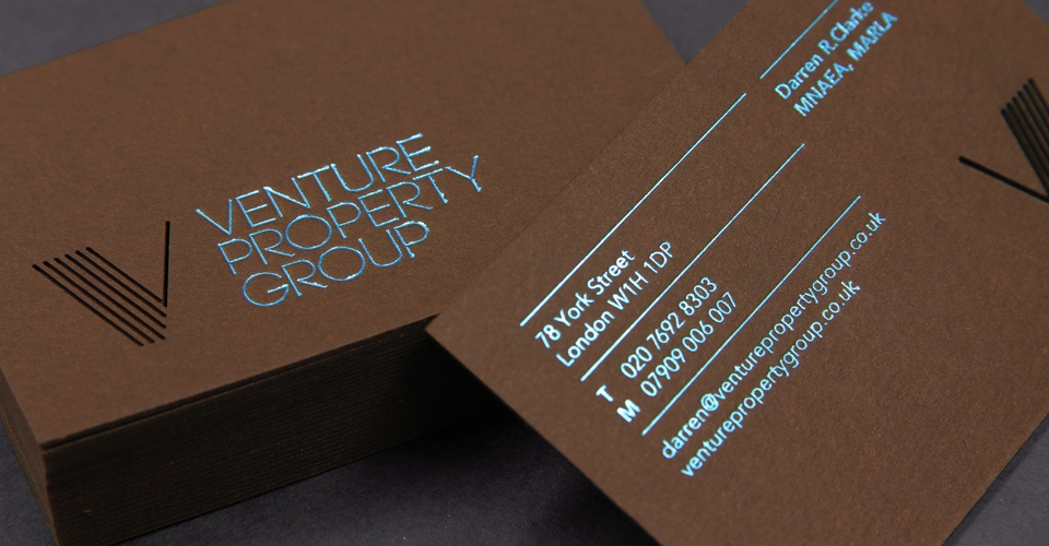 Custom Business Card – Venture Property Group | CardRabbit.com