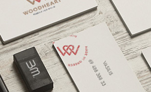 Custom Business Cards - WoodHeart