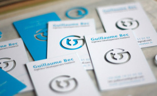 Custom Die Cut Busines Card - Guillaume Bec