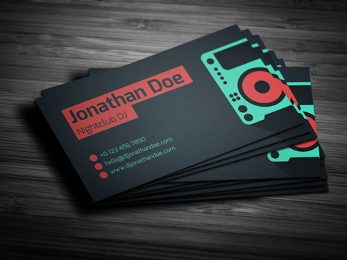 11 Amazing Business Card Templates For Dj S Cardrabbit Com
