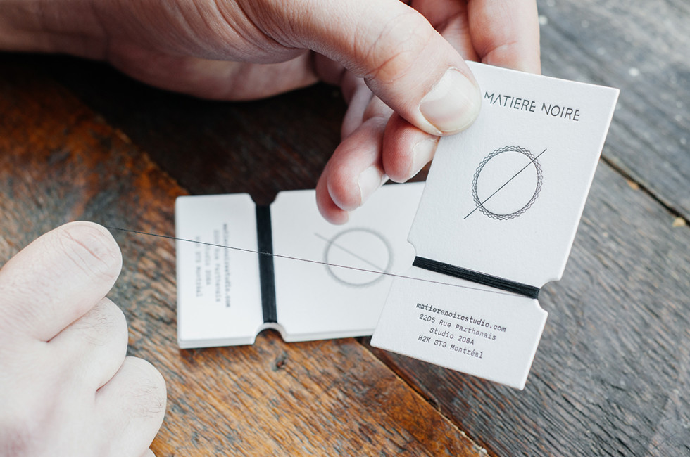 Beautiful Die-Cut Business Cards - Matiere Noire 4